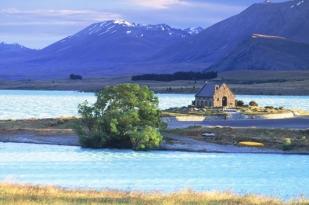 新西兰南岛蒂卡波1日包车游•雅芳河+好牧人教堂+蒂卡波湖+远眺库克山【基督城出发】