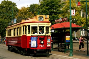 新西兰南岛-基督城有轨电车(Tramway)