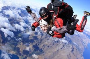 新西兰南岛-皇后镇双人高空跳伞