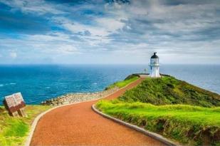 新西兰北岛-雷加角灯塔和九十哩海滩