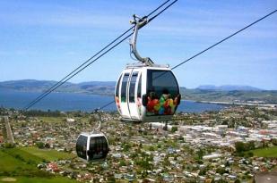 新西兰南岛-罗托鲁瓦高空缆车(skyline)