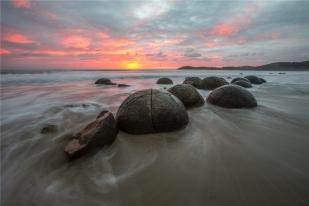 新西兰南岛-摩拉基大圆石(Moeraki Boulders)