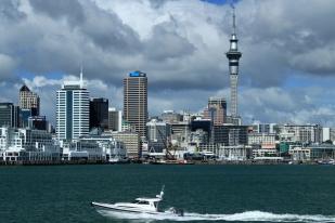 新西兰北岛-奥克兰怀特玛塔港(Waitemata Harbour)